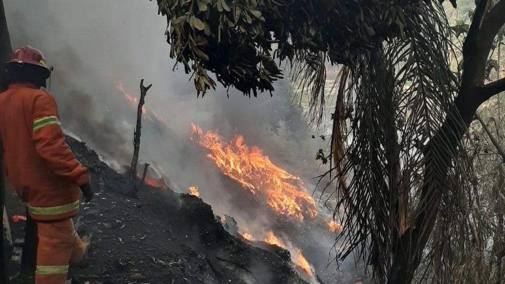 Gara-gara Bakar Sampah, 5 Rumah di Bogor Hangus Terbakar