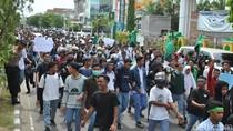 Demo Pelajar-Mahasiswa, Massa Minta DPRK Lhokseumawe Surati Kapolri
