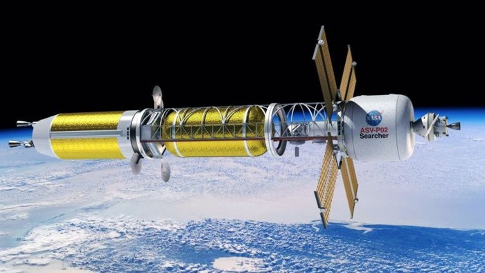 Ilustrasi roket tenaga nuklir. Foto: NASA