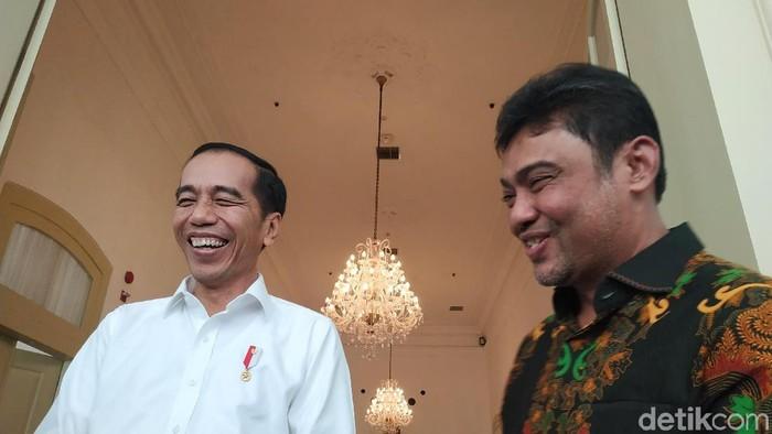 Jokowi bertemu Said Iqbal di istana (Dika-detikcom)