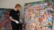 Bergaya Abstrak, Lukisan Ed Sheeran Ditaksir Rp 283 Juta