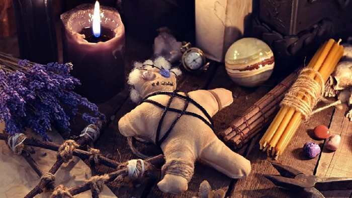 Occult, esoteric, divination and wicca concept. Mystic and vintage background