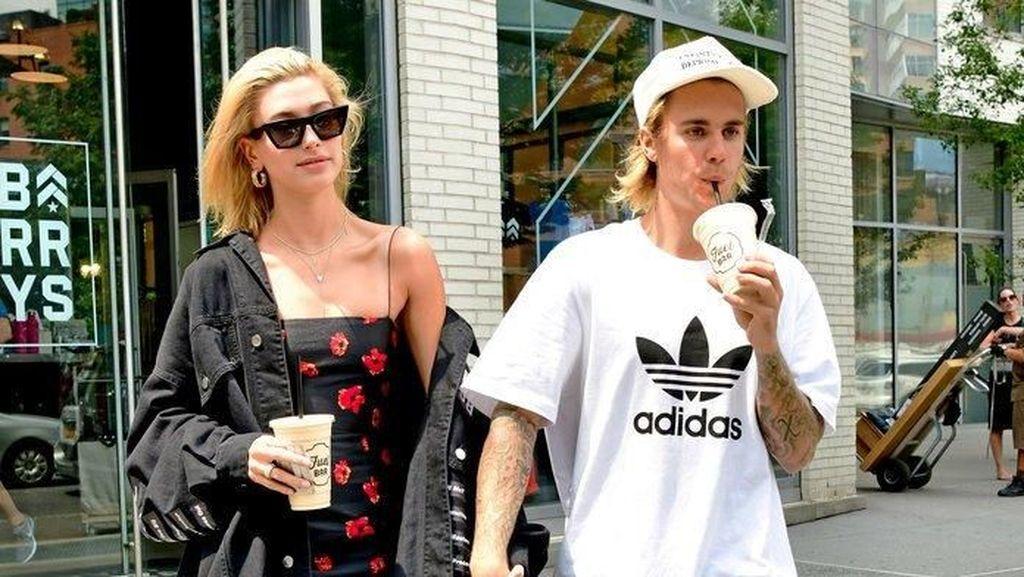 Romantisnya Justin Bieber dan Hailey Baldwin Saat Kulineran Bersama