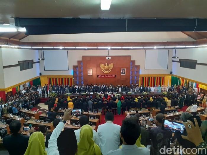 Pelantikan DPR Aceh (DPRA)- (Agus-detikcom)