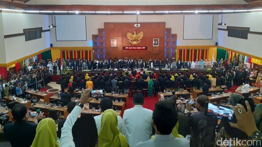Pidato Perdana Ketua Sementara DPRA Singgung Kemiskinan di Aceh Masih Tinggi