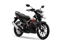Honda Sonic 150R warna Activo Black.