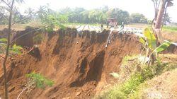 1 Hektare Lahan Pertanian di Tasikmalaya Longsor Saat Kemarau
