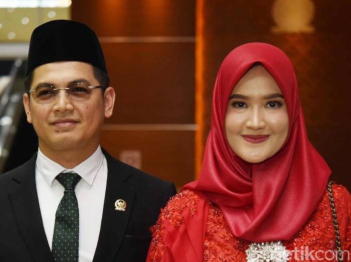 Tommy Kurniawan dan Lisya Nurrahmi saat ditemui di gedung DPR.