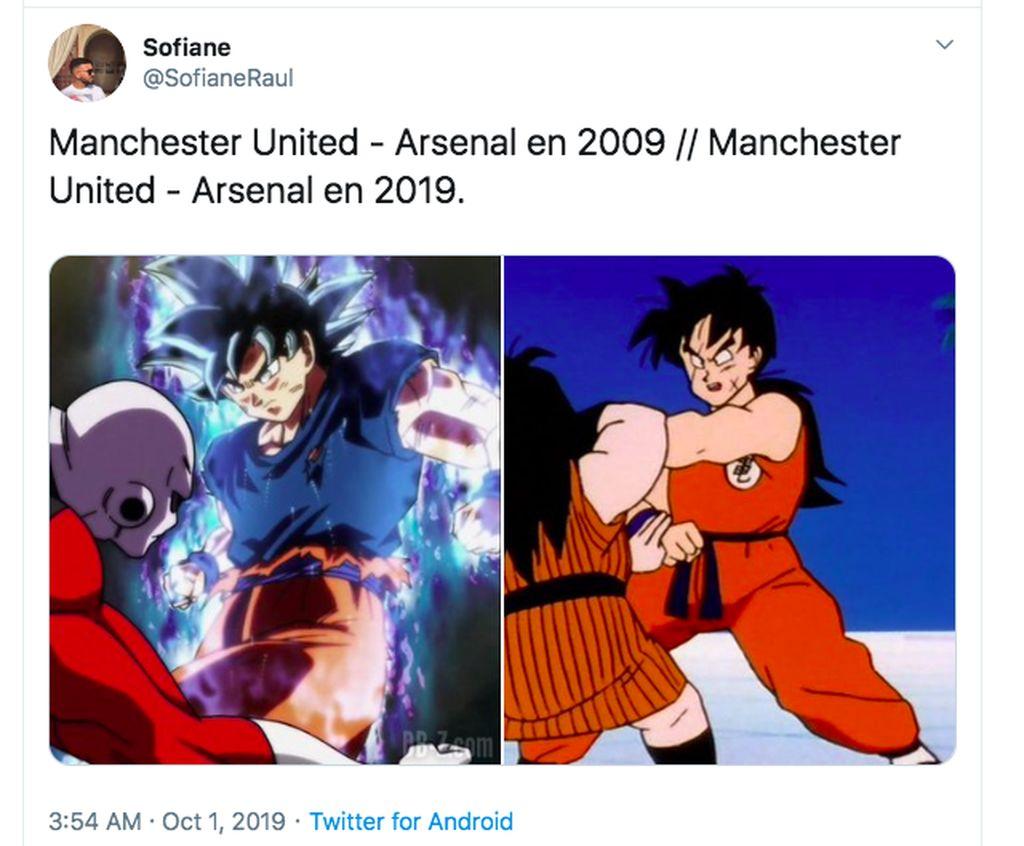 Dahulu, rivalitas antara MU dan Arsenal begitu sengit. Sekarang keduanya sama-sama sedang terpuruk. Foto: Twitter