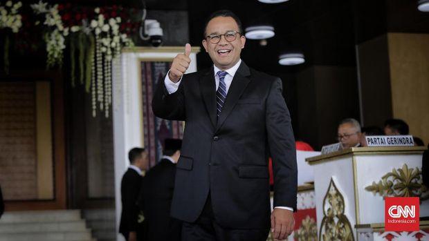 Gubernur DKI Anies Baswedan menepis soal kenaikan anggaran TGUPP.