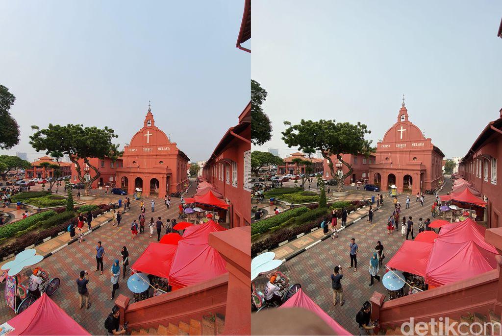 Mode wide angle, lebih suka kiri atau kanan? Foto: Adi Fida Rahman/detikINET