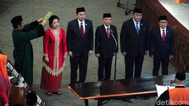 Pimpinan DPR RI 2019-2024. Foto: Lamhot Aritonang