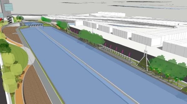 Total luas area yang akan direvitalisasi mencapai 19.190 meter persegi. Nantinya akan ada ruang sosial, ruang aktivitas, dan ruang hijau di sekeliling badan air sungai. (dok. Humas Pemprov Jabar)