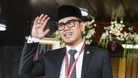 Eko Hendro Purnomo atau Eko Patrio pun kembali melenggang ke Senayan. Ia diusung PAN dapil DKI Jakarta I dengan perolehan suara 104.564. Antara Foto/Galih Pradipta.