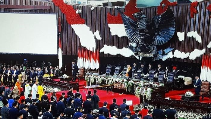 Foto: Pelantikan anggota DPR/MPR dan DPD 2019-2024 (Andhika/detikcom)