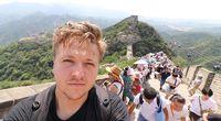 Simon selfie di Tembok Besar China (dok. Simon Wilson)