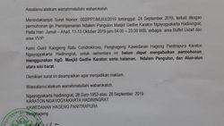 Surat soal Izin Muslim United Pakai Masjid Gedhe Viral, Ini Kata Keraton Yogya