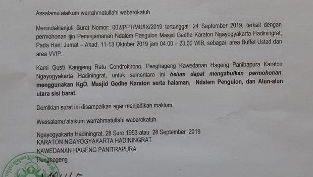 Keraton Yogya Tak Beri Izin Muslim United di Masjid Kauman, Ini Kata Panitia