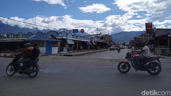 Kondisi Wamena, Rabu (2/10/2019). Foto: Saiman-detikcom