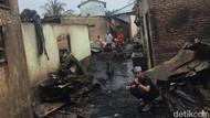 43 Rumah Hangus Terbakar di Jalan S Parman Medan