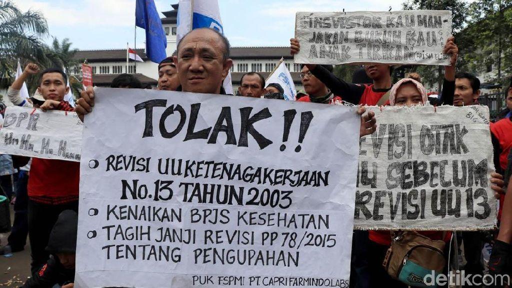 Buruh Bakal Demo Terus-terusan sampai Tuntutan Dikabulkan