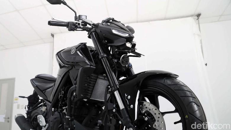 Motor seperti Yamaha MT-25 sudah menggunakan suspensi USD Foto: Pradita Utama