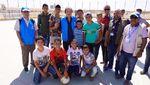 Seru! Tahir Main Bola Bareng Anak Pengungsi Suriah