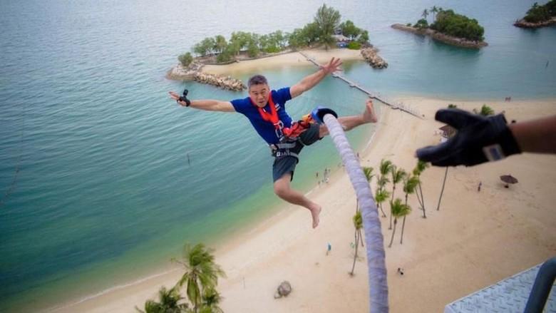 AJ Hacket di Pulau Sentosa, Singapura. (Foto: Singapore Tourism Board)