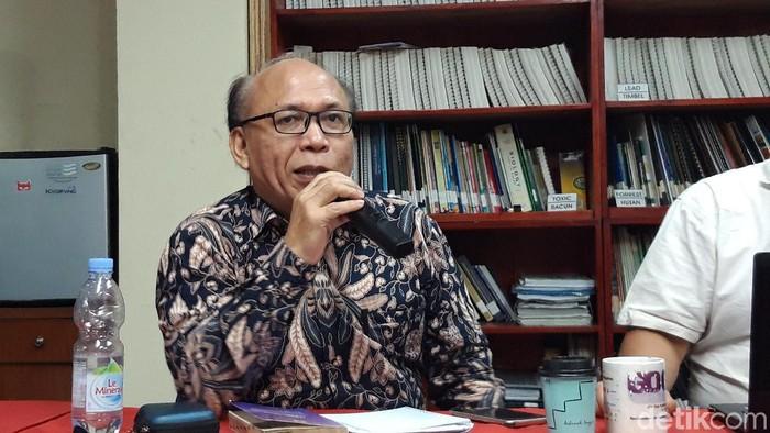 Foto: Kepala Biro Perencanaan, Pengawasan Internal dan Kerja Sama Komnas HAM Esrom Hamonangan (Rahel/detikcom)