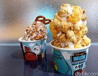 Es Krim Lembut Topping Popcorn yang Creamy Manis Ada di Sini