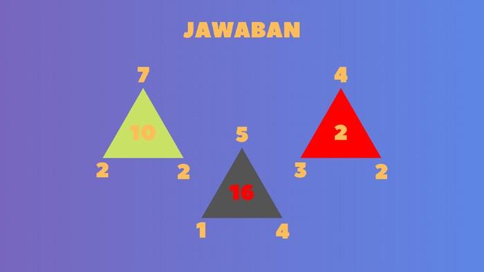 Angka ditengah hasil dari angka paling atas dikurangi angka sisi kiri lalu dikali angka sisi kanan. (Foto: detikHealth)