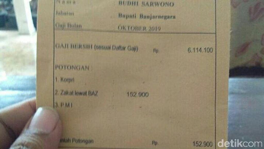 Rincian Pendapatan Bupati Banjarnegara yang Slip Gajinya Viral di Medsos