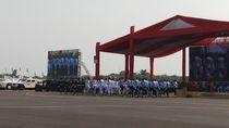 Panglima TNI Pantau Geladi Bersih HUT ke-74 TNI