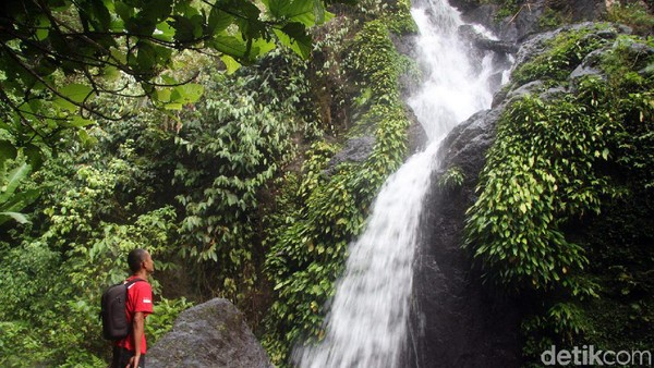 Jika dikelola dengan baik, wisatawan pasti akan mau datang ke 2 air terjun cantik ini. Apalagi udara di sekitar air terjun terasa sejuk dan menyegarkan, dijamin betah! (Abdy Febriady/detikcom)