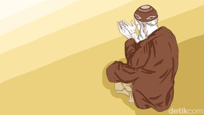Ilustrasi membaca doa Nabi Sulaiman.  (Fauzan Kamil/detikcom)