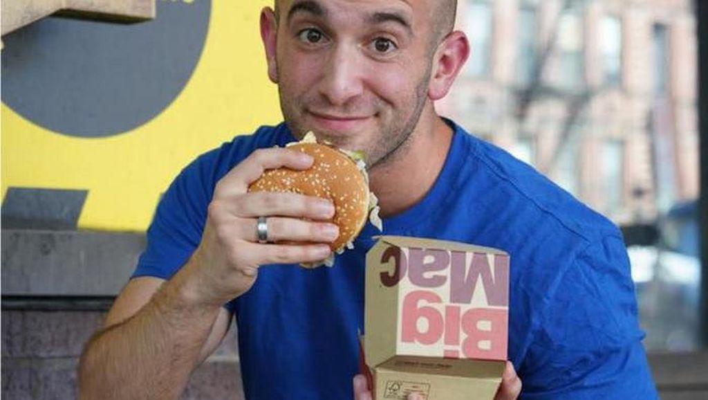 Jalani Diet. Pria Ini Makan Burger Tiap Hari dan Berat Badannya Justru Turun