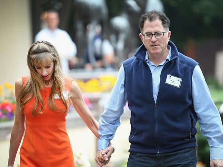 SUN VALLEY, ID - JULY 10:  Michael Dell, chairman and chief executive officer of Dell Inc., and his wife Susan attend the Allen & Company Sun Valley Conference on July 10, 2015 in Sun Valley, Idaho. Many of the worlds wealthiest and most powerful business people from media, finance, and technology attend the annual week-long conference which is in its 33rd year.  (Photo by Scott Olson/Getty Images)