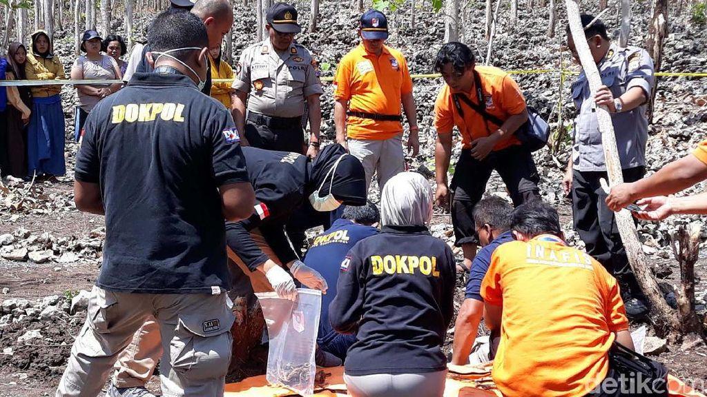 Evakuasi Kerangka Manusia di Gunungkidul, Polisi Temukan Bra dan Rok