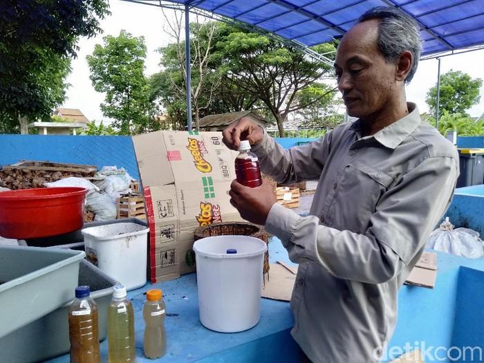 Pengolahan sampah organik di Pasar Ciwastra, Kota Bandung. (Foto: Reta Amaliyah Shafitri/detikcom)