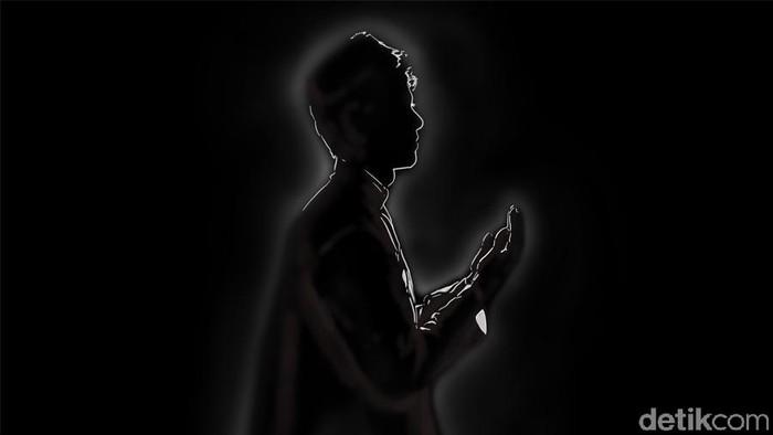 lustrasi berdoa mengucapkan Barakallah fii umrik: (ilustrasi:Fauzan Kamil/detikcom)