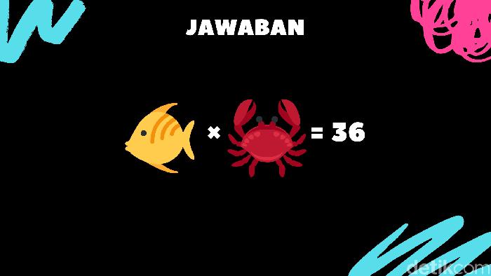 Kepiting bernilai 12 sementara ikan bernilai 3. (Foto: detikHealth)