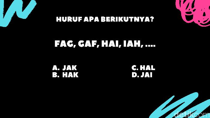 Hayo bagaimana pola huruf-hurufnya terbentuk? (Foto: detikHealth)