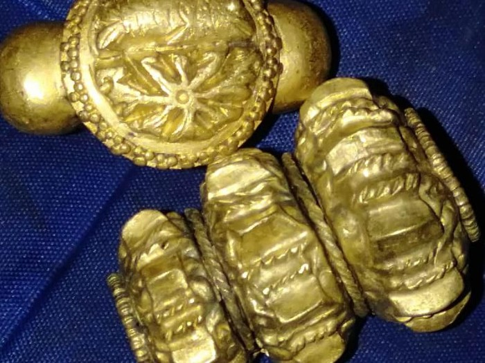 Harta karun diduga bekas Kerajaan Sriwijaya (Foto: dok. Istimewa)