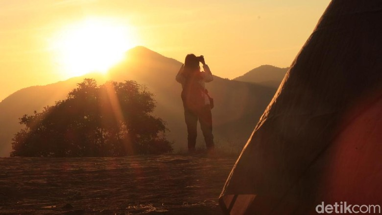 Berburu Fajar di Geger Bintang Matahari Lembang. (Foto: Yudha Maulana/detikcom)