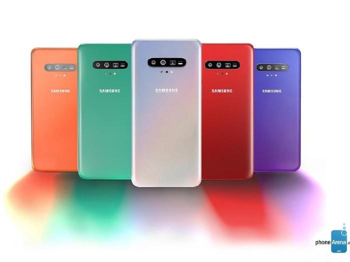 Bocoran tampang Galaxy S11. Foto: Phone Arena