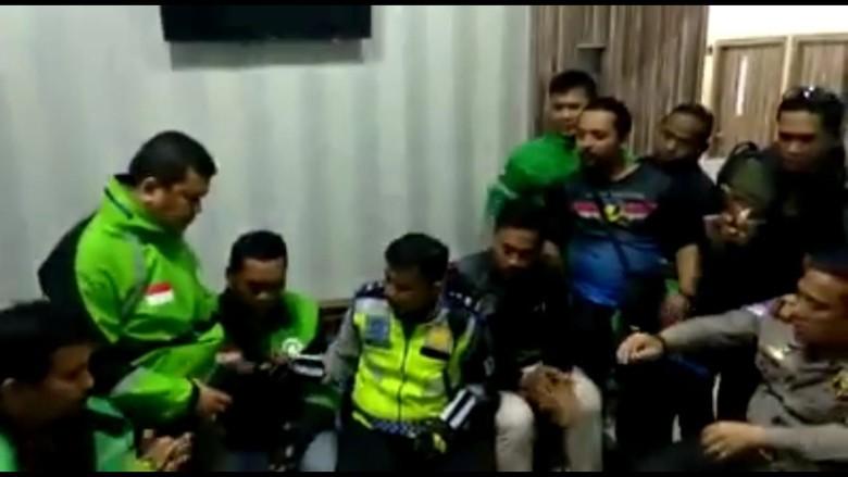 Berakhir Damai, Polantas Penendang Pengemudi Ojol di Bogor Minta Maaf