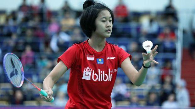 Putri Kusuma Wardani menyumbang satu poin kemenangan untuk Indonesia di partai final.
