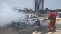 Mobil Honda Brio Terbakar di Tol Kukusan, Tak Ada Korban Jiwa