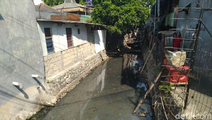 Permukiman di Grogol Petamburan yang tak memiliki septic tank/ Foto: Sachril Agustin Berutu/detikcom