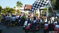 Kampanye Udara Bersih, Ratusan Motor Listrik Konvoi di Semarang